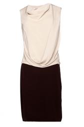 Шелковое двухцветное платье Diane von Furstenberg
