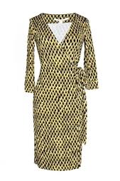 Платье с оригинальным принтом из шелка Diane von Furstenberg