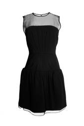Платье с полупрозрачной вставкой Diane von Furstenberg