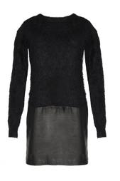 Платье с кожаной юбкой Diane von Furstenberg
