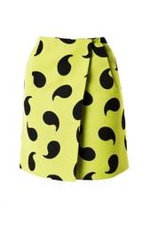 Лимонная юбка с завышенной талией Diane von Furstenberg