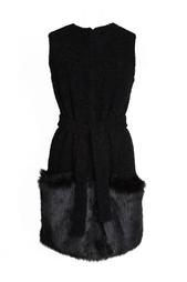 Платье-пальто с меховой отделкой Diane von Furstenberg