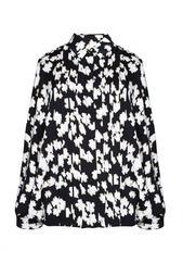 Шелковая блузка с принтом-паззлом Diane von Furstenberg