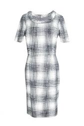 Классическое платье с круглым воротом Oscar de la Renta