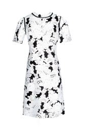 Черное платье с белым принтом Derek Lam