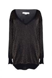 Пуловер с отделкой в виде золотых полос Stella Mc Cartney
