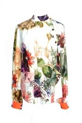 Шелковая блузка с цветочным принтом Preen