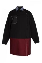 Двухцветное платье с накладным карманом Proenza Schouler