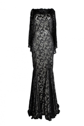 Платье без рукавов с открытой спиной Zac Posen