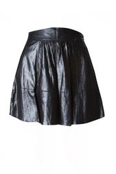 Кожаная юбка-колокол с высокой талией L'Agence