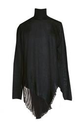 Асимметричный свитер с шелковой вставкой Vionnet
