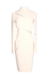 Платье-футляр с завышенным воротником Emilio Pucci