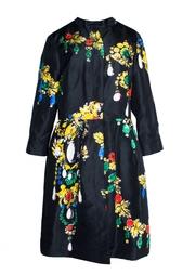 Платье-плащ с принтом Oscar de la Renta
