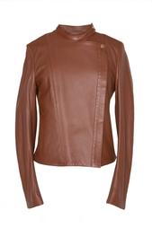 Кожаная куртка с асимметричной молнией The Row
