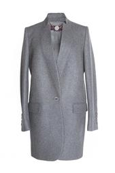 Серое шерстяное пальто с добавлением кашемира Stella Mc Cartney