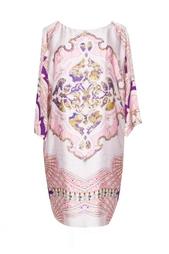 Шелковое розовое платье с принтом Emilio Pucci
