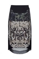 Полупрозрачная юбка с отделкой Preen