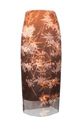 Шелковая юбка-карандаш с принтом Alexander Terekhov