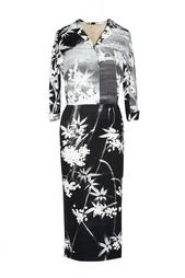 Платье-футляр из шелка с принтом Alexander Terekhov