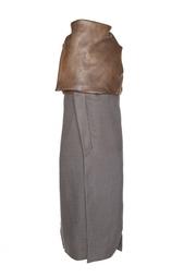 Пальто из ангоры и кожи Rick Owens