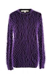 Кашемировый свитер с вставленными пластмассовыми кольцами Christopher Kane