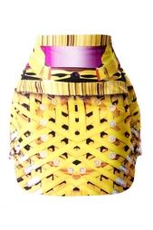 Шелковая объемная юбка с принтом Mary Katrantzou