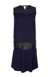 Прямое платье с вставками на плечах и поясе Proenza Schouler