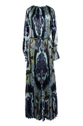 Плиссированное платье в пол Emilio Pucci