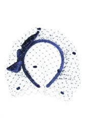 Темно-синий ободок с вуалью Konstantin Gayday