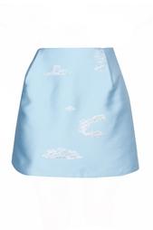 Юбка-мини небесно-голубого цвета Vika Gazinskaya