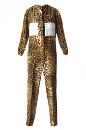 Комбинезон с леопардовым принтом и накладными карманами Tzipporah