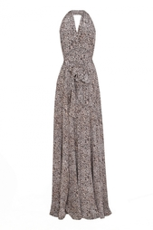 Шелковое платье с открытой спиной L'Agence
