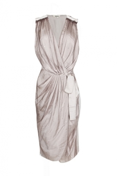 Коктейльное платье без рукавов с поясом L'Agence