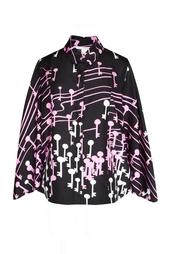 Шелковая блуза с принтом в виде нот Diane von Furstenberg