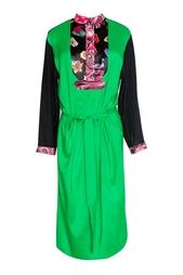 Зеленое платье с длинными рукавами Duro Olowu