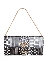 Клатч Riviera Clutch Watersnake Patchwork Christian Louboutin