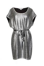 Вышитое стеклярусом платье с поясом Diane von Furstenberg