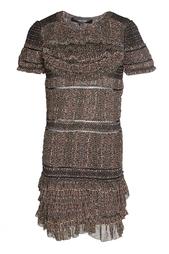 Шелковое платье с оборками Isabel Marant