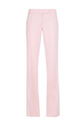 Шерстяные розовые брюки на высокой талии Stella Mc Cartney