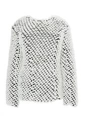 Шерстяной свитер с белой отделкой Nina Ricci