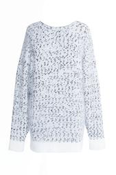 Белый с черным свитер из ангоры Nina Ricci