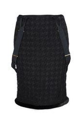 Юбка на подтяжках с отделкой Nina Ricci