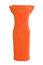 Оранжевое платье-футляр Roland Mouret