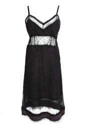 Платье на бретелях с кружевными вставками Nina Ricci