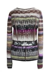 Разноцветный свитер с кружевной вставкой Nina Ricci