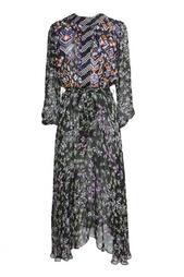 Платье из вискозы и шелка с принтом Duro Olowu