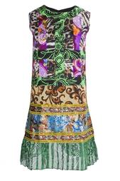 Короткое платье без рукавов с ярким принтом Duro Olowu