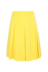Желтая юбка в складку Jonathan Saunders