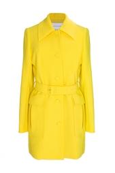 Ярко-желтое пальто на пуговицах Jonathan Saunders