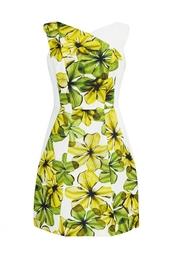 Платье с асимметричным цветочным принтом Jason Wu